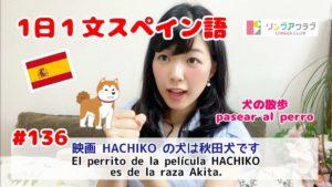 1日1文スペイン語(#136) - 映画HACHIKOの犬は秋田犬です
